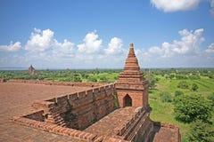 Vista dal tempio di Bagan immagini stock