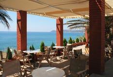 Vista dal terrazzo al mare Fotografia Stock Libera da Diritti