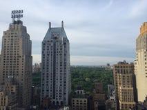 Vista dal terrazzo del salotto del tetto fotografia stock