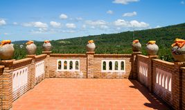 Vista dal terrazzo superiore Immagine Stock