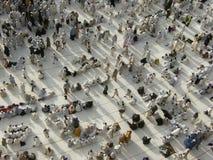 Vista dal terzo pavimento della moschea di Haram immagine stock libera da diritti