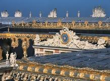 Vista dal tetto al palazzo di Versailles fotografia stock