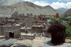 Vista dal tetto del monastero buddista fotografia stock libera da diritti
