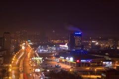 Vista dal tetto Ekaterinburg fotografia stock