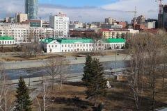Vista dal tetto Ekaterinburg immagini stock libere da diritti