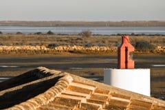 Vista dal tetto sulla riserva di pesca Immagini Stock