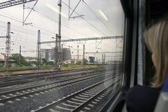 Vista dal treno Fotografia Stock Libera da Diritti