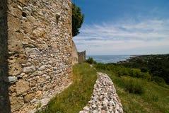 Castello di Platamonas immagini stock libere da diritti