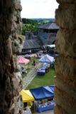Vista dal vecchio castello di Rakvere Fotografie Stock Libere da Diritti