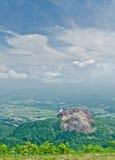 Vista dal vulcano attivo nell'Hokkaido, Giappone Immagini Stock