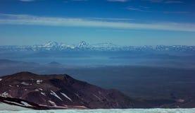 Vista dal vulcano di Avacha kamchatka Fotografia Stock Libera da Diritti