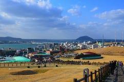 Vista dal vulcano Ilchulbong Fotografia Stock Libera da Diritti
