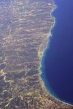 Vista dall'aereo Fotografia Stock