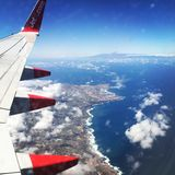 Vista dall'aereo fotografie stock