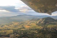 Vista dall'aereo in Provenza, Francia fotografia stock libera da diritti