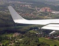Vista dall'aeroplano Fotografie Stock