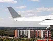 Vista dall'aeroplano Fotografia Stock Libera da Diritti