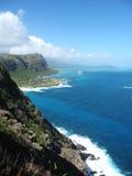 Vista dall'allerta del punto di Makapuu, Oahu, Hawai Immagini Stock Libere da Diritti