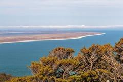 Vista dall'allerta della collina di bluff, Southland, Nuova Zelanda Immagine Stock