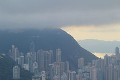 Vista dall'allerta di Jardine s, Hong Kong Fotografia Stock Libera da Diritti