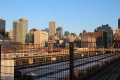 Vista dall'alta linea di New York Fotografie Stock