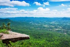 Vista dall'alta montagna Immagini Stock