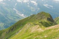 Vista dall'alta strada alpina di Grossglockner sulle montagne Fotografie Stock Libere da Diritti
