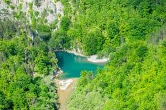 Vista dall'altezza del canyon Fotografia Stock Libera da Diritti