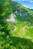 Vista dall'altezza del canyon Fotografie Stock