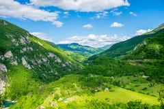 Vista dall'altezza del canyon Immagini Stock Libere da Diritti
