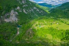 Vista dall'altezza del canyon Fotografia Stock