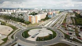 Vista dall'altezza della città video d archivio