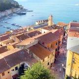 Vista dall alto di Porto Santo Stefano - Grosseto Stock Photos