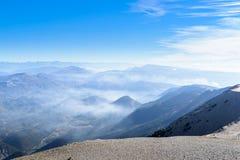 Vista dall'area di Mont Ventoux, alpi Immagine Stock