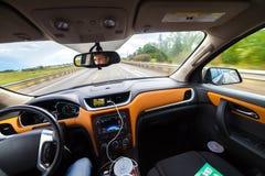 Vista dall'automobile di lusso dentro Fotografie Stock