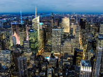 Vista dall'Empire State Building immagine stock