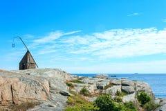Vista dall'estremità del mondo in Norvegia immagini stock libere da diritti