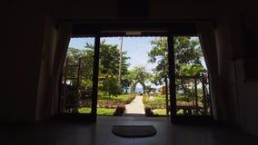 Vista dall'hotel al mare Immagini Stock