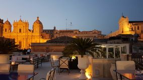 Vista dall'hotel del botique di Gagliardi in Noto & in x28; sicily& x29; Fotografie Stock Libere da Diritti