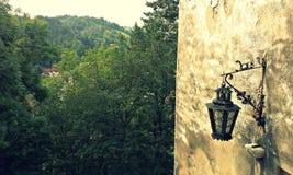 Vista dall'interno del castello Fotografie Stock