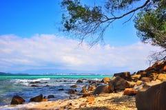 Vista dall'isola Immagini Stock