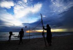 Vista dall'isola di Lanta, provincia di Krabi, Tailandia fotografia stock