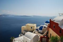 Vista dall'isola di santorini Fotografia Stock Libera da Diritti