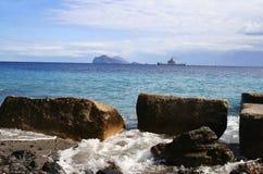 Vista dall'isola Lipari, Italia Immagini Stock Libere da Diritti