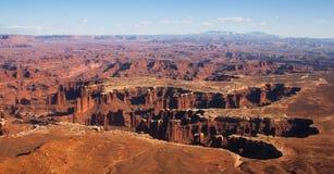Vista dall'isola nel cielo, parco nazionale di Canyonlands, Utah, Stati Uniti Fotografia Stock