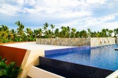 Vista dall'open bar nell'hotel di Barcelo, Punta Cana, 02 05 17 fotografia stock libera da diritti