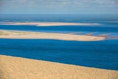 Vista dall'più alta duna in Europa - duna di Pyla (Pilat), Immagine Stock