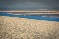 Vista dall'più alta duna in Europa - duna di Pyla (Pilat), Immagini Stock Libere da Diritti