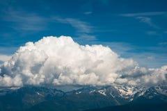Vista dall'più alta montagna. Alpi Fotografia Stock