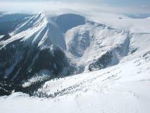 Vista dall'più alta montagna ceca Fotografia Stock Libera da Diritti